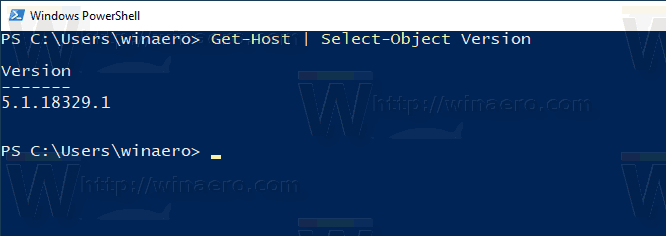 PowerShell Version Windows 10