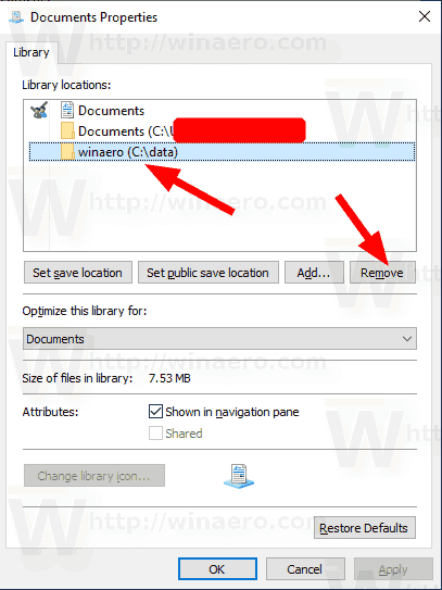 Remove A Folder From A Library