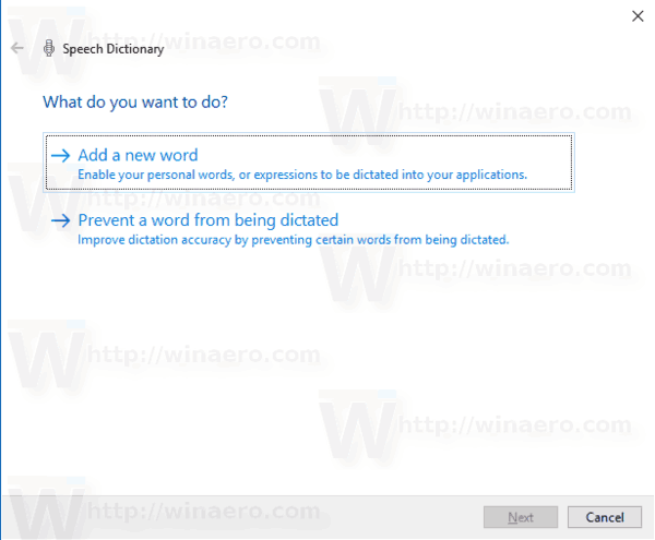 Speech Recognition Dictionary Add Word 1