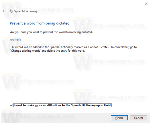 Speech Recognition Dictionary Prevent Word 3