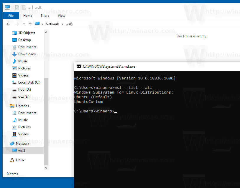 Terminated WSL Distro Windows 10