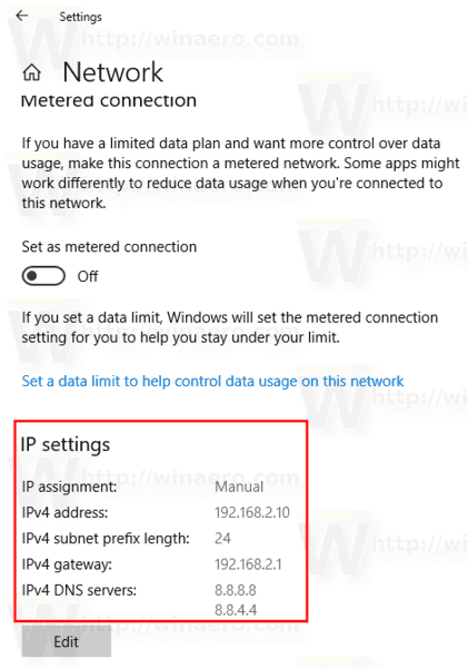 Windows 10 Settings App Static Ip 6