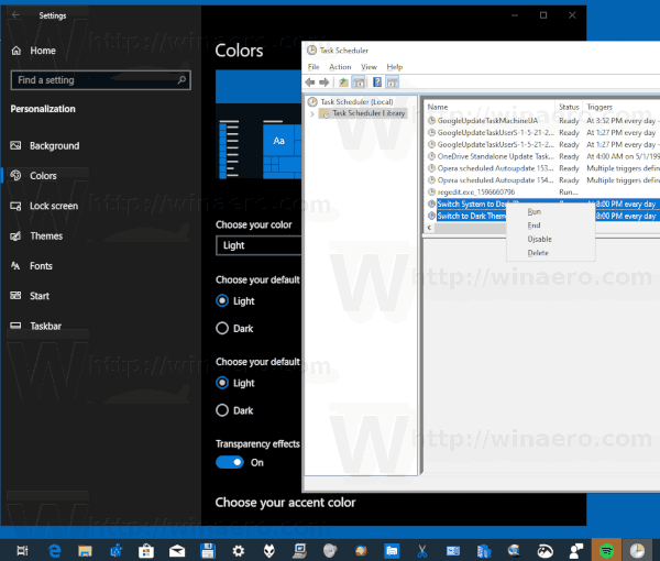 Automatically Switch To Light or Dark Mode in Windows 10