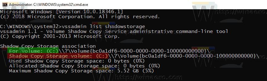 Windows 10 System Restore Max Storage Size 2