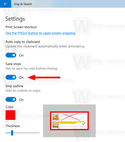 Windows 10 Turn On Ask To Save Snip