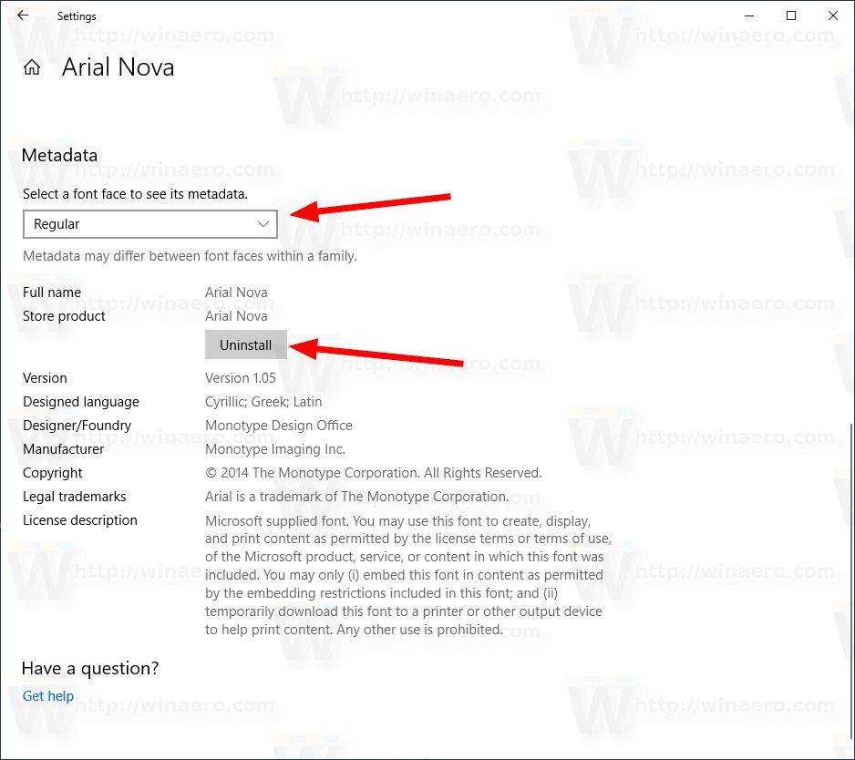 Windows 10 Uninstall A Font Personalization Fonts 2