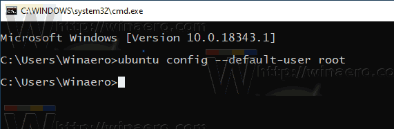 Windows 10 WSL Set Default Password To Root