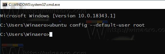 Windows 10 WSL Set Default Password To Root