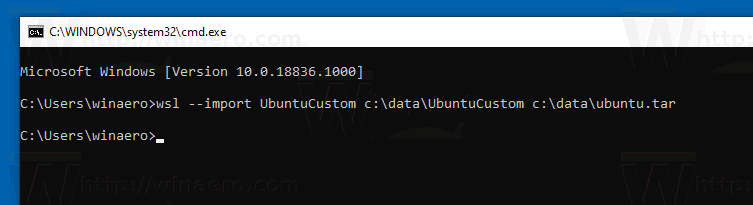 Windows 10 Import WSL Distro