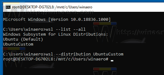 Windows 10 Run Imported WSL Distro