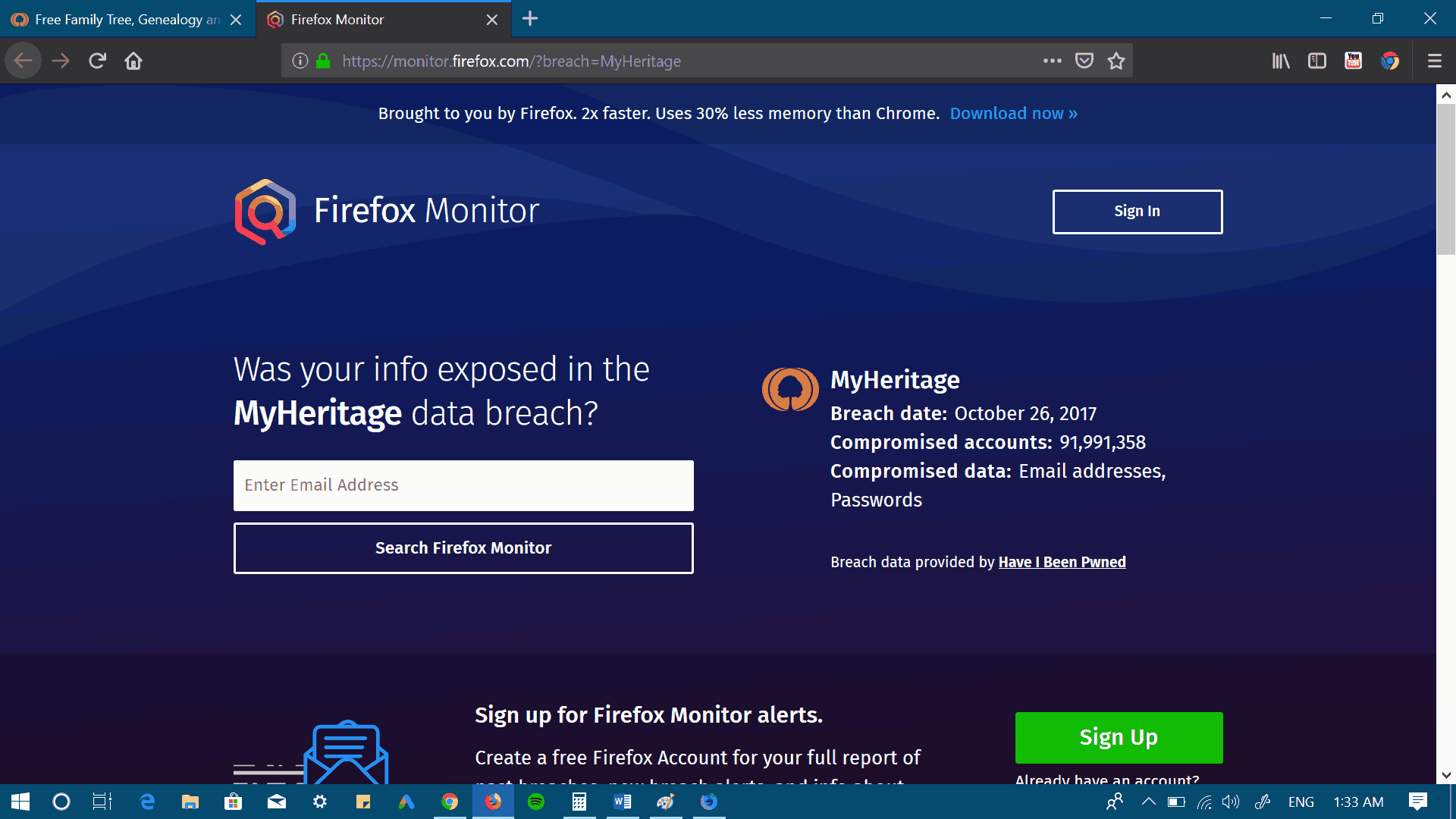 02 Firefox Monitor Enter Email