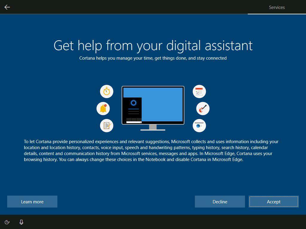 Cortana Page