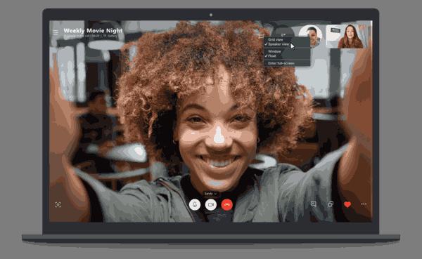Skype Speaker View Desktop