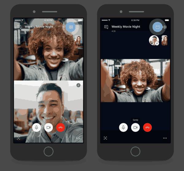 Skype Speaker View Mobile