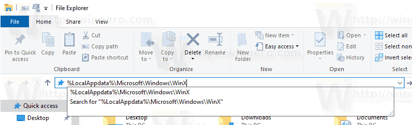 WinX Shortcut Folder