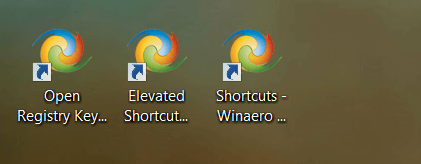 Winaero Tweaker Shortcut Icons