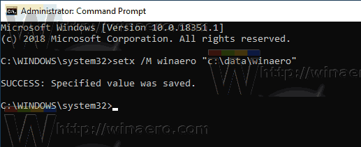 Windows 10 Cmd New System Environment Vairable