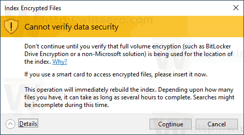 Index Encrypted Files in Windows 10