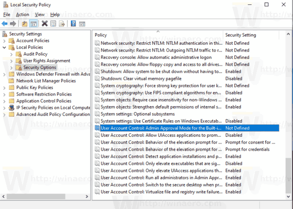 Windows 10 Enable UAC For Built In Administrator 1