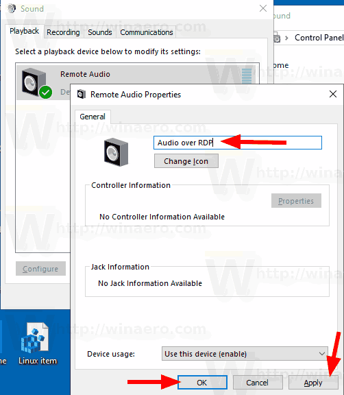 Windows 10 Rename Audio Device Control Panel