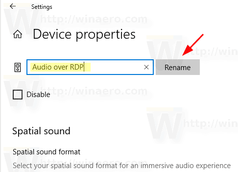 Windows 10 Rename Audio Device