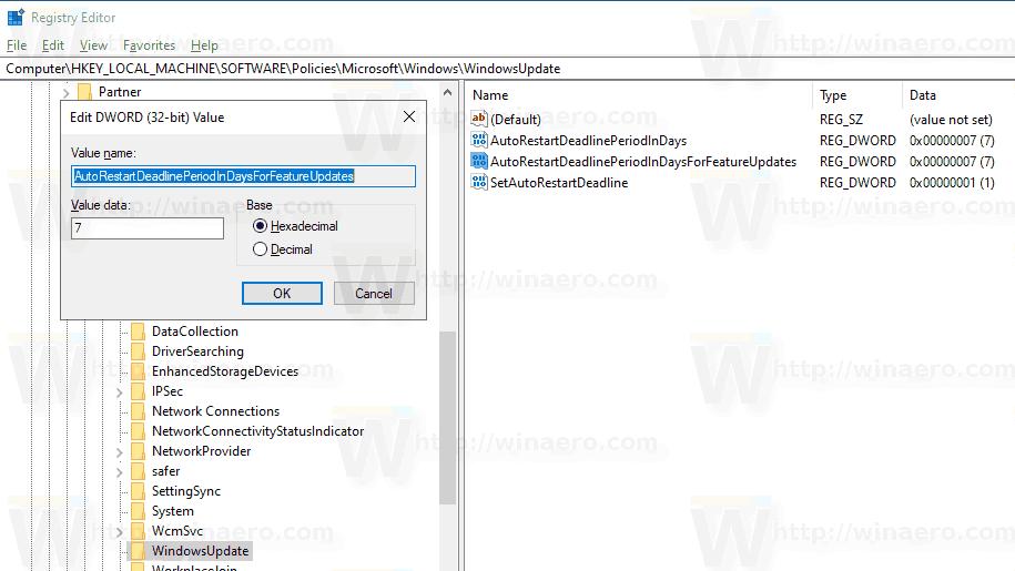 Windows 10 Specify Deadline Before Auto Restart For Update Installation 3