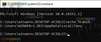Windows 10 User Environment Variable