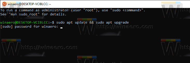 Windows 10 WSL Upgrade Apt
