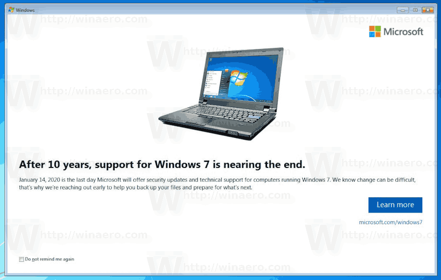 Windows 7 Notification End Of Support