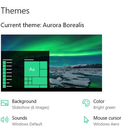 Aurora Borealis theme for Windows 10, 8, and 7