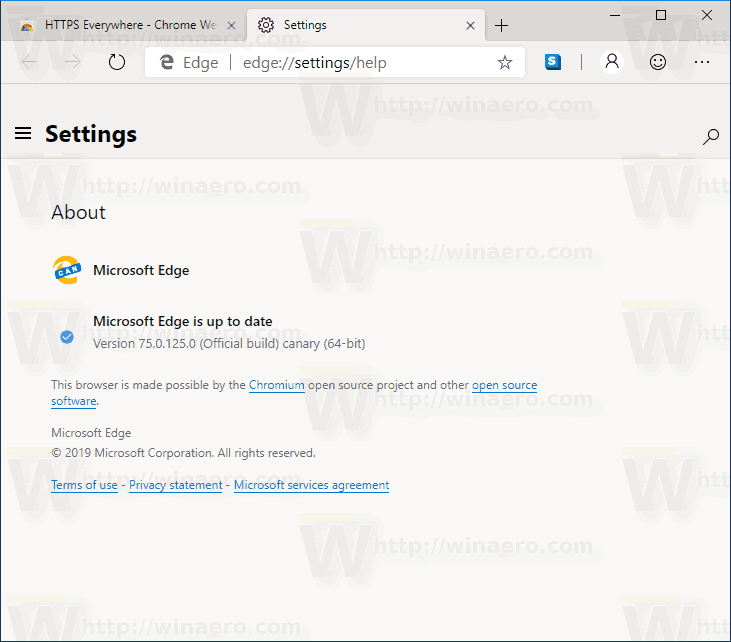 Edge Chromium Build 124