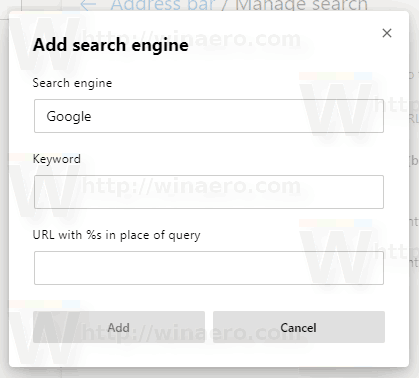 Edge Chromium Change Add Search Engine 2