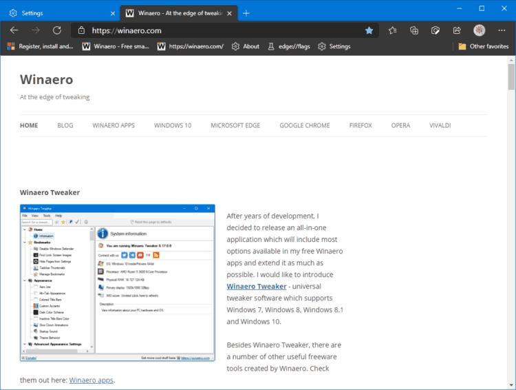 Edge Dark Mode Enable Automatically In Windows 10