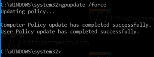 Force Update Group Policy