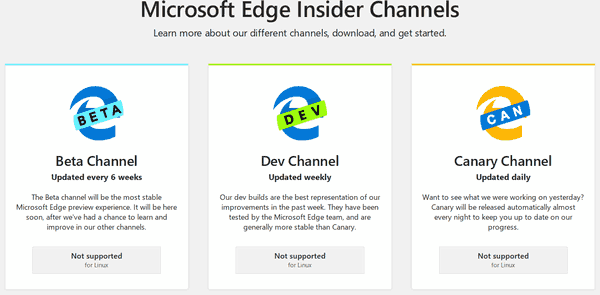 Microsoft Released Chromium-based Edge Preview Versions