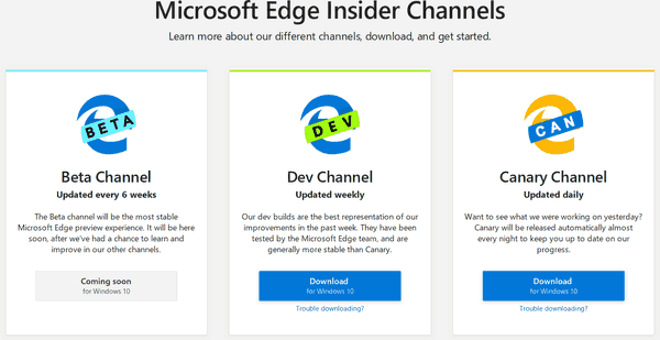Microsoft Edge Download Page