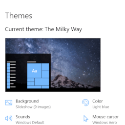 Milky Way theme for Windows 10, 8, and 7