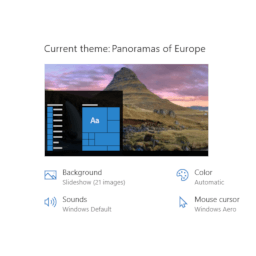 Panoramas of Europe theme for Windows 10, 8, and 7