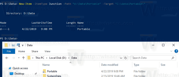 PowerShell Create Directory Junction