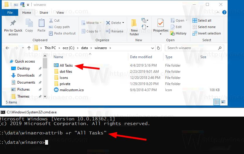 Windows 10 All Tasks Folder Icon