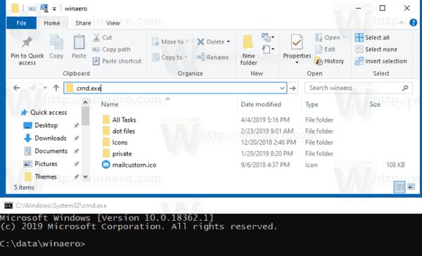 Windows 10 All Tasks Parent Folder In Cmd