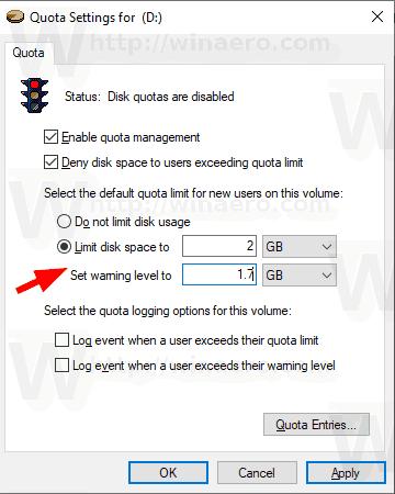 Windows 10 Disk Quota 3