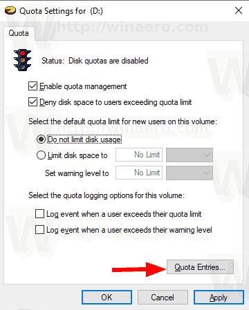 Windows 10 Disk Quota 4
