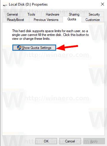 Windows 10 Drive Quota 1