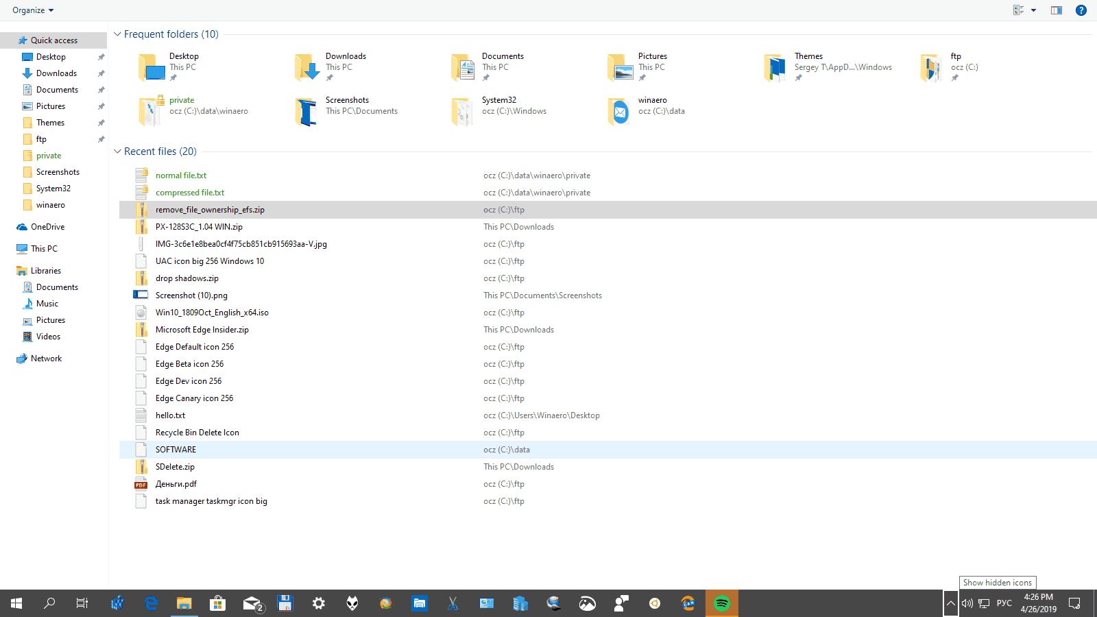 Windows 10 Fullscreen Taskbar Win B