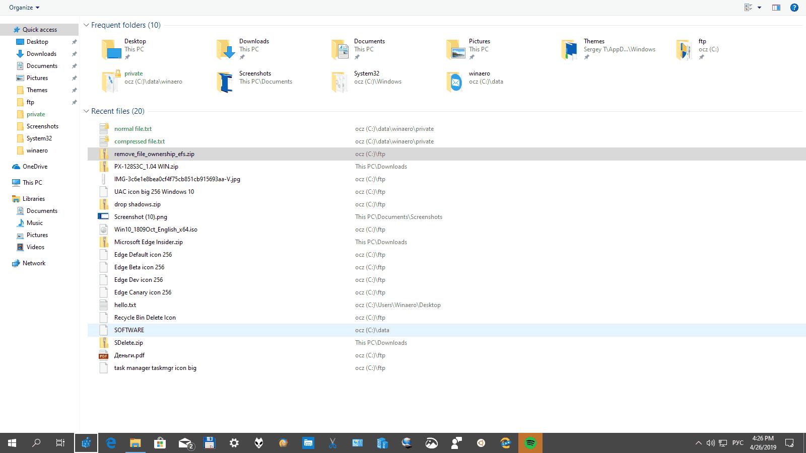 Windows 10 Fullscreen Taskbar Win T