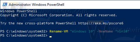 Windows 10 Rename Hyper V VM 3