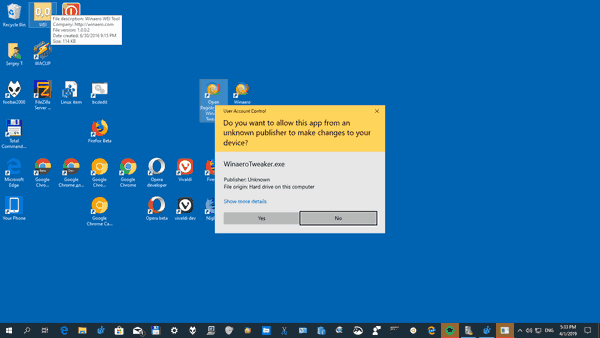 Windows 10 UAC Secure Desktop Disabled