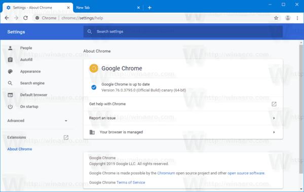 Chrome New Settings