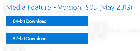 Download Media Feature Pack for Windows 10 version 1903 N